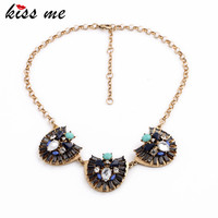 Vintage Jewelry Women Boho Accessories Fan Shaped Pendant Fashion Bib Necklace Factory Wholesale