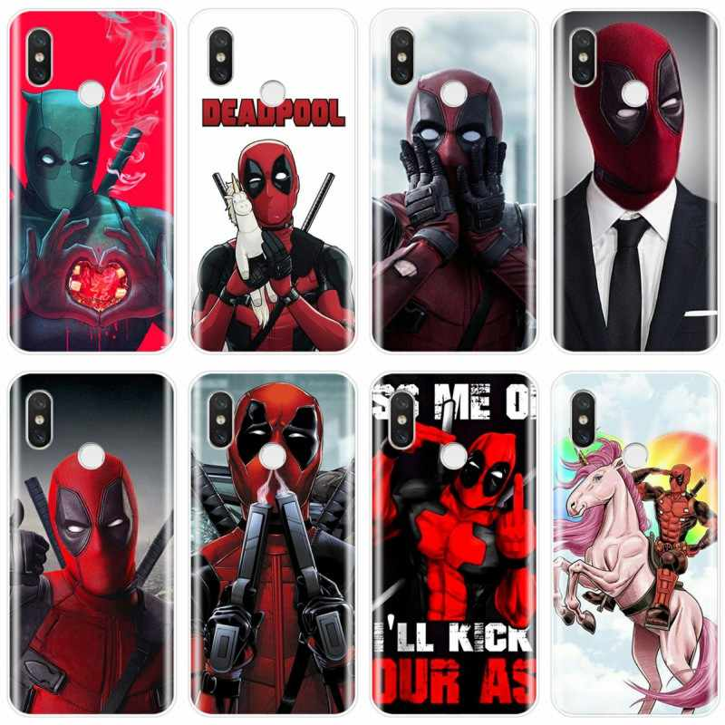 أعجوبة الفعل بركة Deadpool غطاء لينة سيليكون TPU حقيبة لهاتف xiaomi 4 4 S 5 5C 5 S 5 S زائد 6 6X8 برو 8 لايت 8 9 SE ماكس 2 3