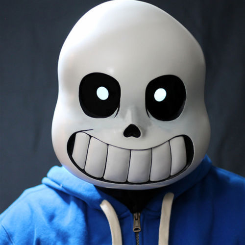 Anime Game Undertale Sans Cos Mask Halloweem Fancy Ball Soft Latex Helmet Props