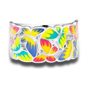 Image 2 - SANTUZZA bague en argent pour les femmes 925 en argent Sterling papillons anneaux pour dames cubique zircone anneau fête mode bijoux émail