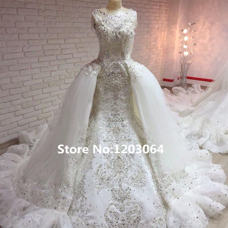 Buy custom made 2016 mermaid wedding for Mermaid wedding dress with detachable train