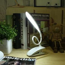 Eye Care LED Table Lamp Touch Switch 16 LEDs USB Rechargeable Student kitap Book Reading Desk Light Flexible Gooseneck Clip Lamp(China)
