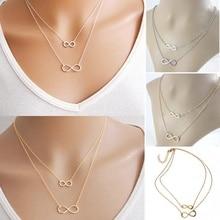Gold Silver Short Bracelet Necklace Bone Chain Necklace 8 Double Lucky Fashion Charm Simple все цены