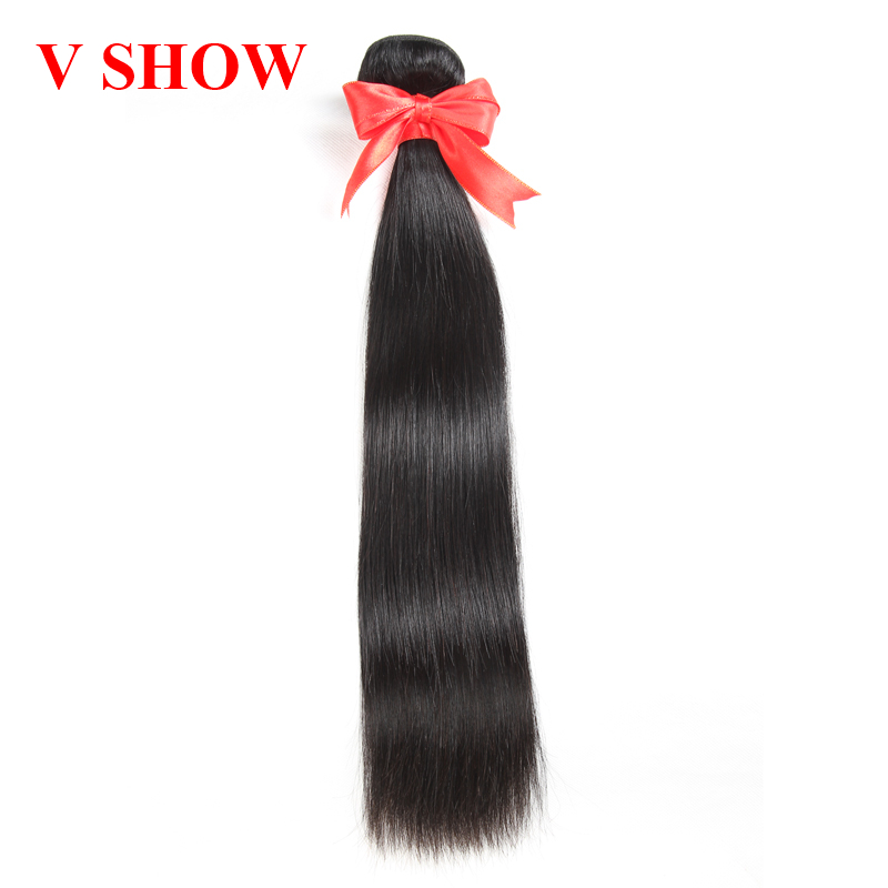 Brazilian Straight Human Hair Bundles 1 Piece Hair Weave Bundles 10-26inch Natural Color Free Shipping Remy Hair VSHOW Hair