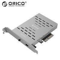 ORICO рабочего диск карта массива PCI E M.2 SSD Нержавеющаясталь высокоскоростной Raid жесткий диск Expansion Card Raid контроллер