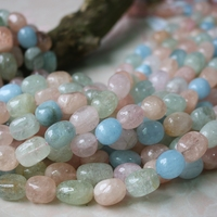morganite baroque 12*15mm loose beads nature beads for making jewelry necklace 14inch FPPJ wholesale