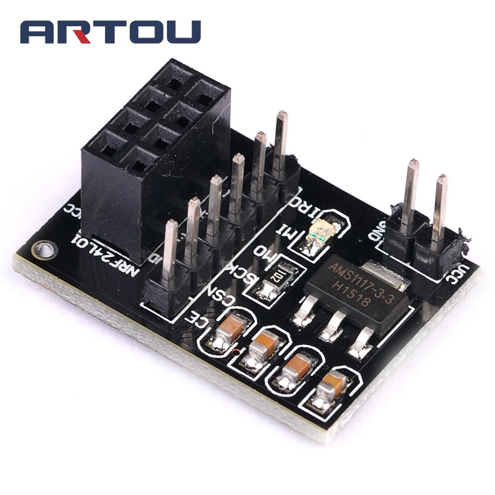 1pcs Ams1117 Nrf24l01 Socket Adapter Plate Board For 8pin Wireless 51 Mosfet Amplifier Circuit View Transceiver Module 33v In Integrated Circuits From Electronic Components
