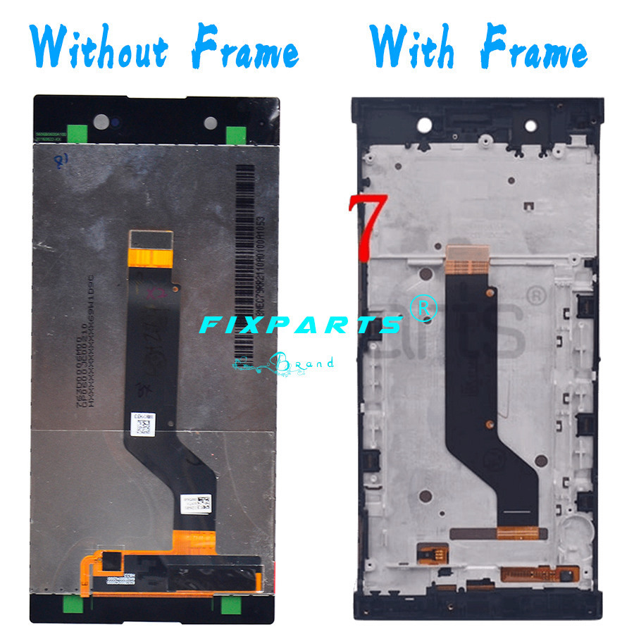 Sony Xperia XA1 Ultra LCD Display Touch Screen Digitizer Assembly With Frame