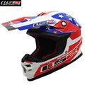 Fibra de vidro ls2 off road motocross capacete moto atv rally racing 456b motocicleta da bicicleta da sujeira capacete casque moto casco capacetes