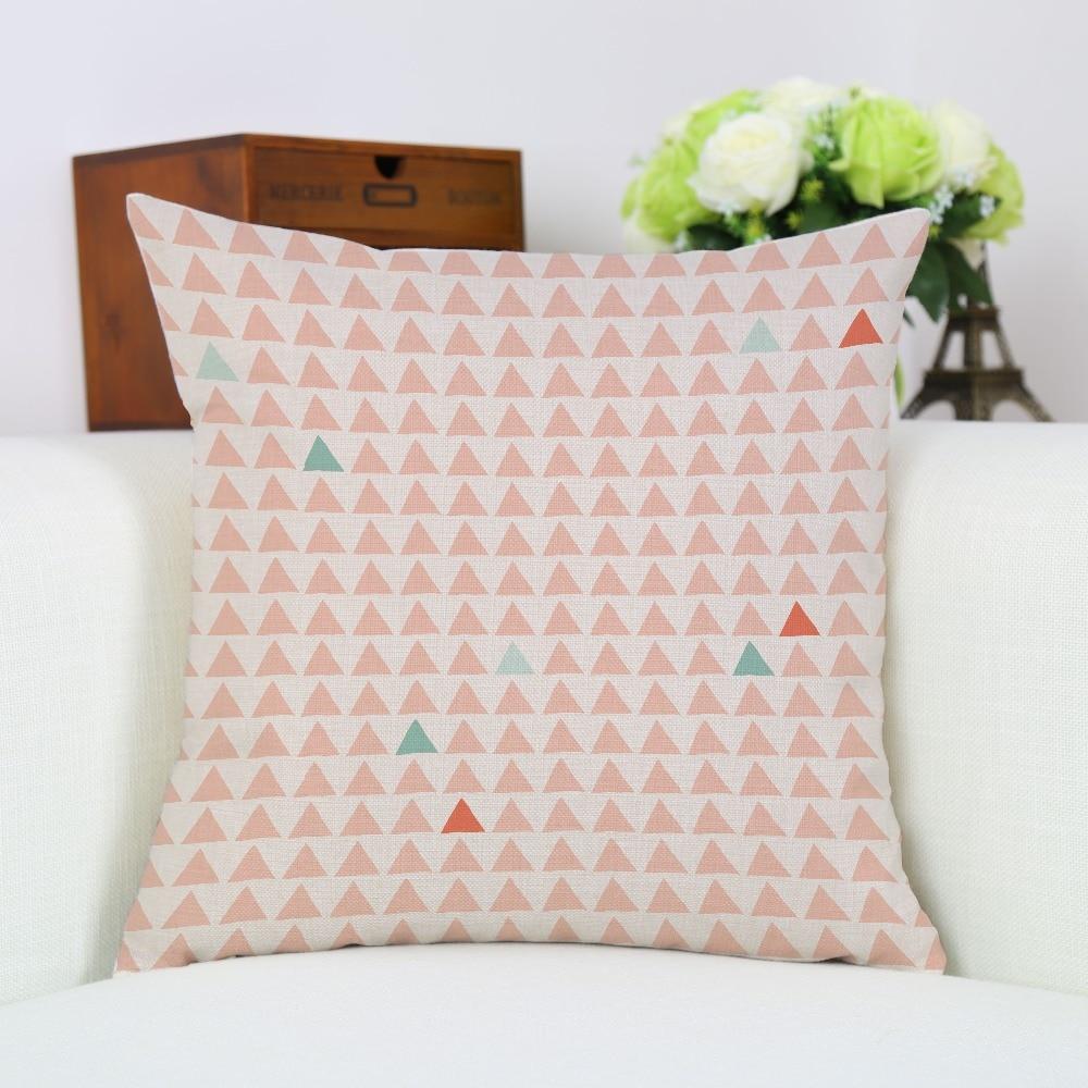 Nordic Modern Trangles Print Acuarelă de artă Amuzant Cushion - Textile de uz casnic