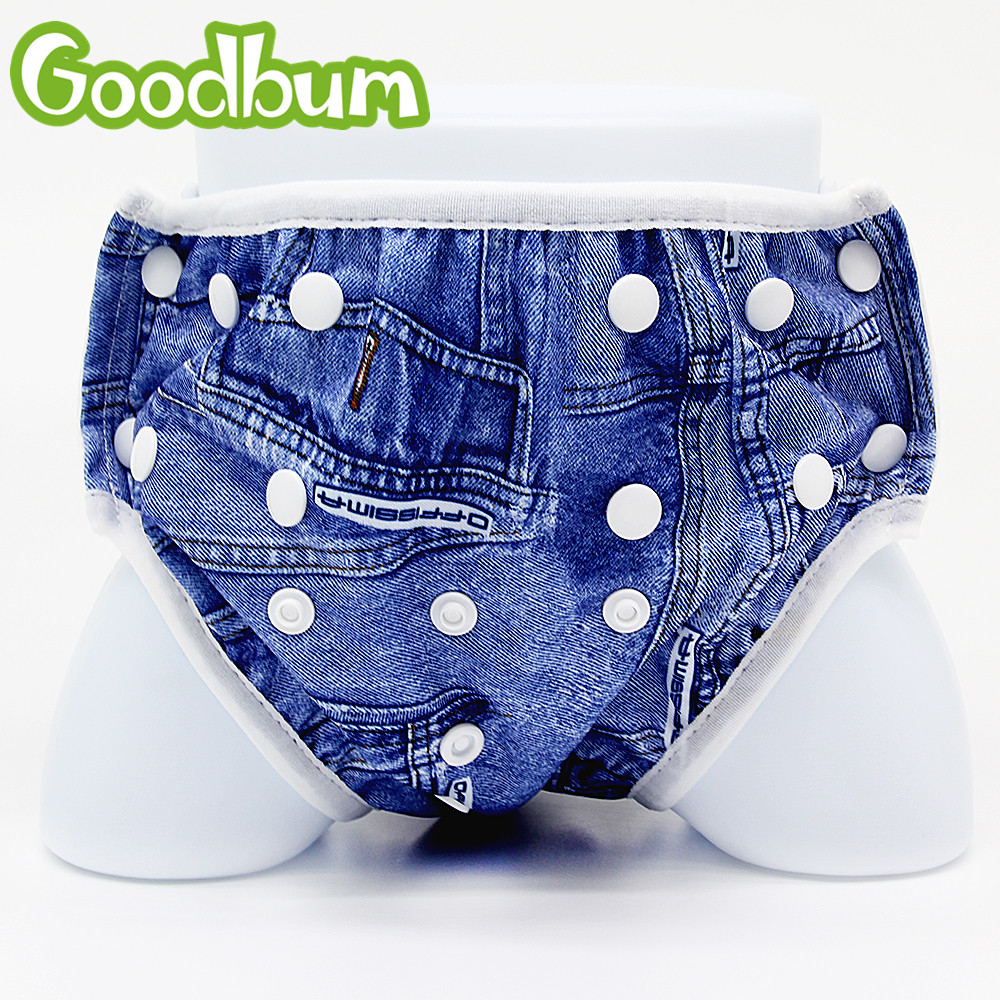 Goodbum Cloth Diapers Baby Reusable Diapers Waterproof Adjustable Swim Diaper Pool Swimming Diaper Summer Beach Nappies