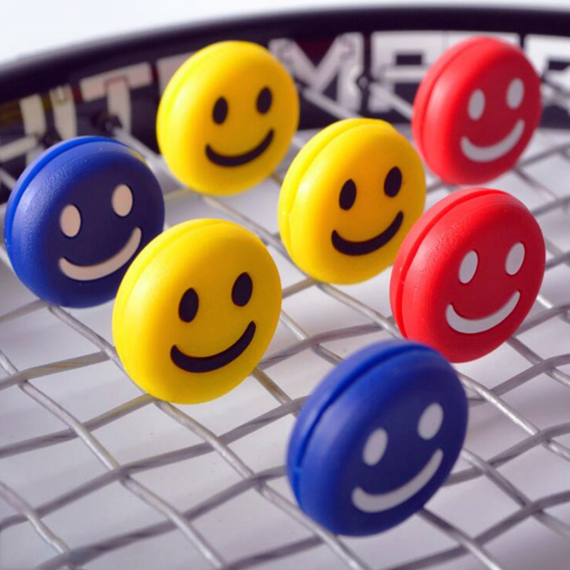 POWERTI Smiling Tennis Vibration Dampers Funny Dampener Reduce Shock Tennis Dampener Expression 20pcs/lot