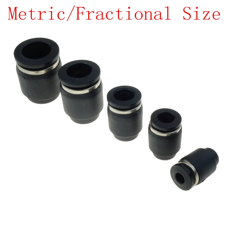 Push In Connect Fitting Cap Pneumatic Air Quick Connector For Tube OD 4mm 6mm 8mm 10mm 12mm 5/32