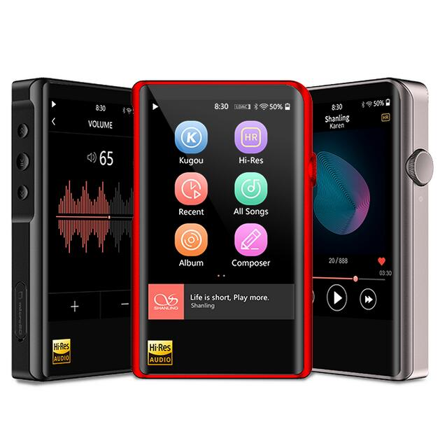 SHANLING M2X Hi-Res Portable Music Player Lossless WMA MP3 DSD256 32bit 384kHz Dual Bluetooth AptX LDAC Balanced Input