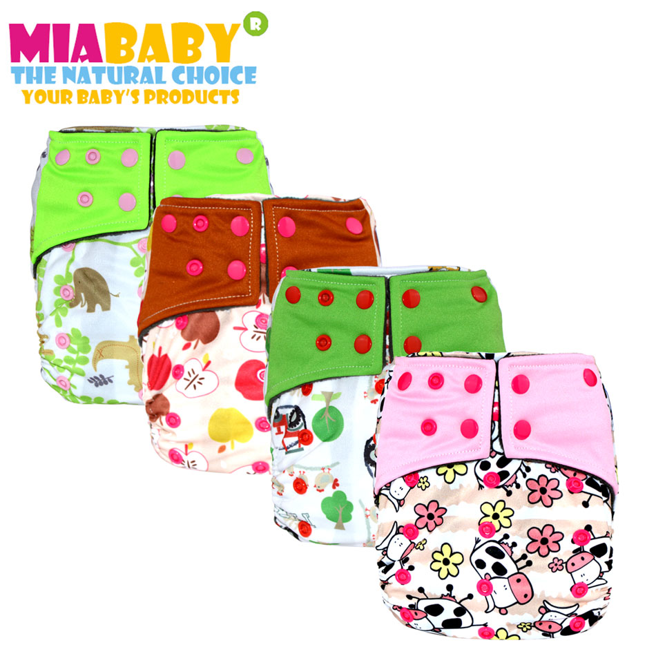 Miababy  OS Charcoal Bamboo Pocket Cloth Diaper,withou Two Pockets,waterproof And Breathable For 3-15kg Baby