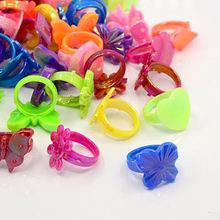 Pandahall 100 шт Акриловые Кольца для детей разноцветные кольца
