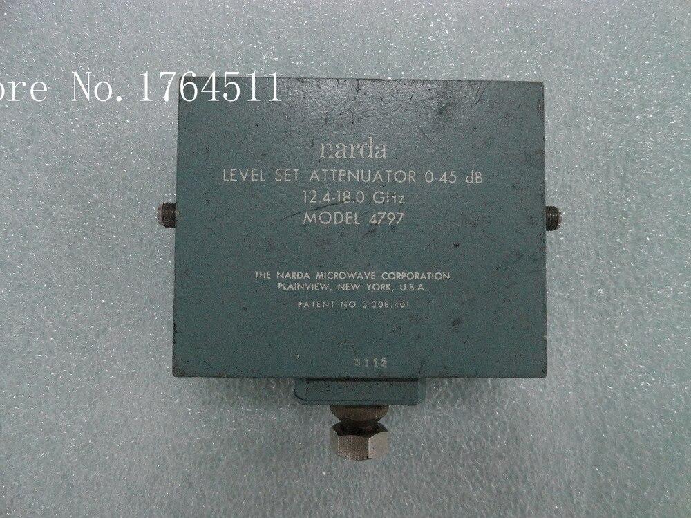 [BELLA] Manual Variable Attenuator 4797 0-45dB 12.4-18GHz Narda Continuation SMA
