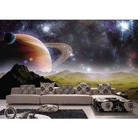 Wholesale 3D Space Luxury Mural Wall papers for Living Room Sofa TV Background Wall Photo Murals Embossed Waterproof #139