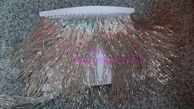 Yy003 5 ярдов/мешок ленты серебро с бахромой и с бусинами см 15 см ширина для свадебное платье/вечерние партия распиловки
