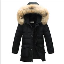 Top Quality Children Outerwear Winter Boys Thick Down Jacket 2016 New Winter Child Long Warm Coat Boys Hooded Down Outerwear