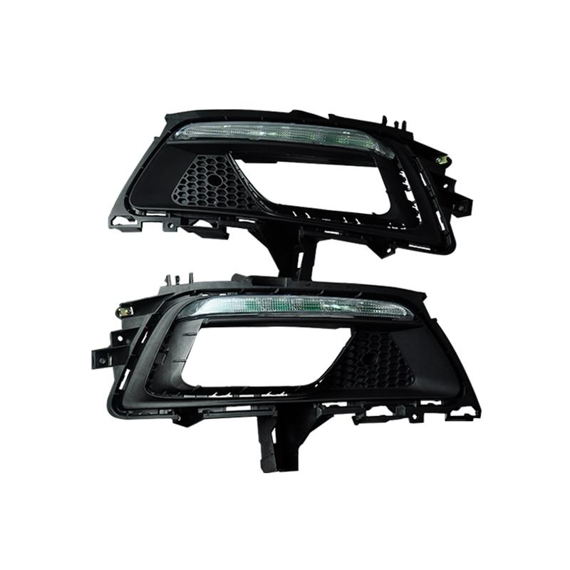 ФОТО High Quality Free Shipping Car Accessories LED DRL Daytime Running Lights Daylight Fog light LED fog lamp for New Cruze 2015