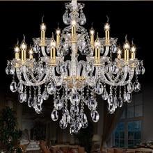 Maria theresa chandelier lighting for living room bedroom Kitchen K9 lustre de cristal polished gold fixture
