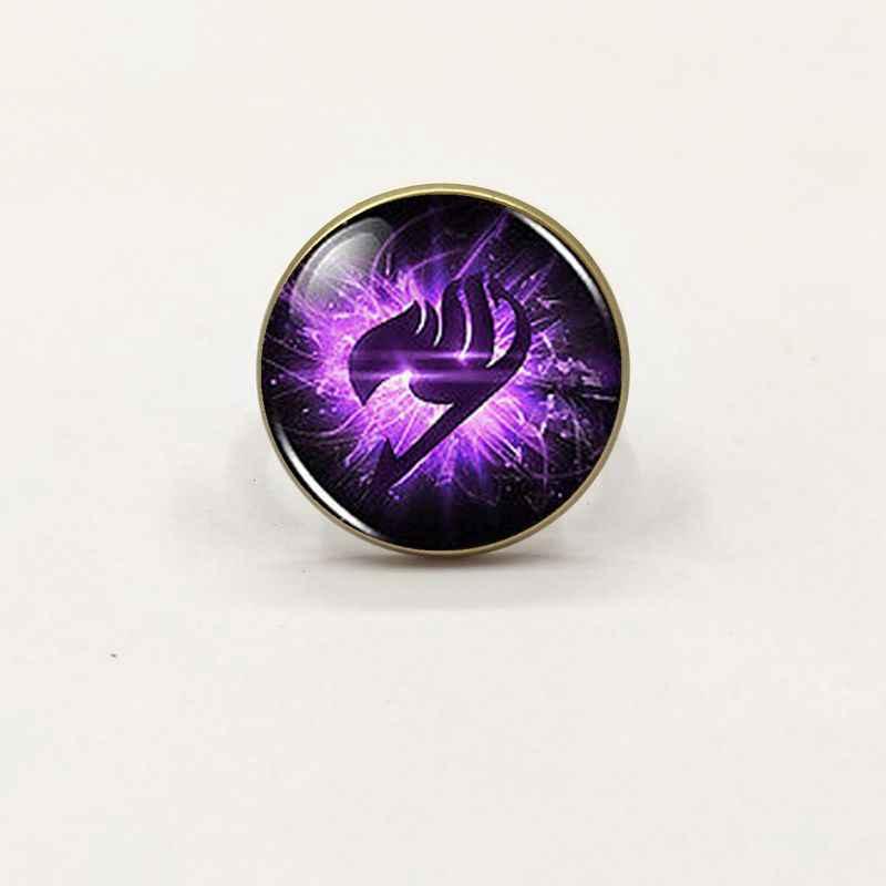 Anime de cola de hadas de gremio marcas púrpura ala Steampunk anillo dr que/lote Alicia en el país de las maravillas de la joyería