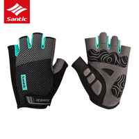 Santic 2018 new cycling gloves Shockproof Half Finger Gloves for bicycles breathable Protective Mittens men bike Fitness mittens
