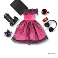 E-TING Куклы Одежда Красная Роза Свадьба Вечернее Платье Мини-Юбки для Barbie Doll