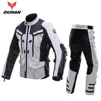 DUHAN motorcycle suits enduro cross defender jacket pantaloni pants ATV rally cross country cruise suit motocross jacket + pants