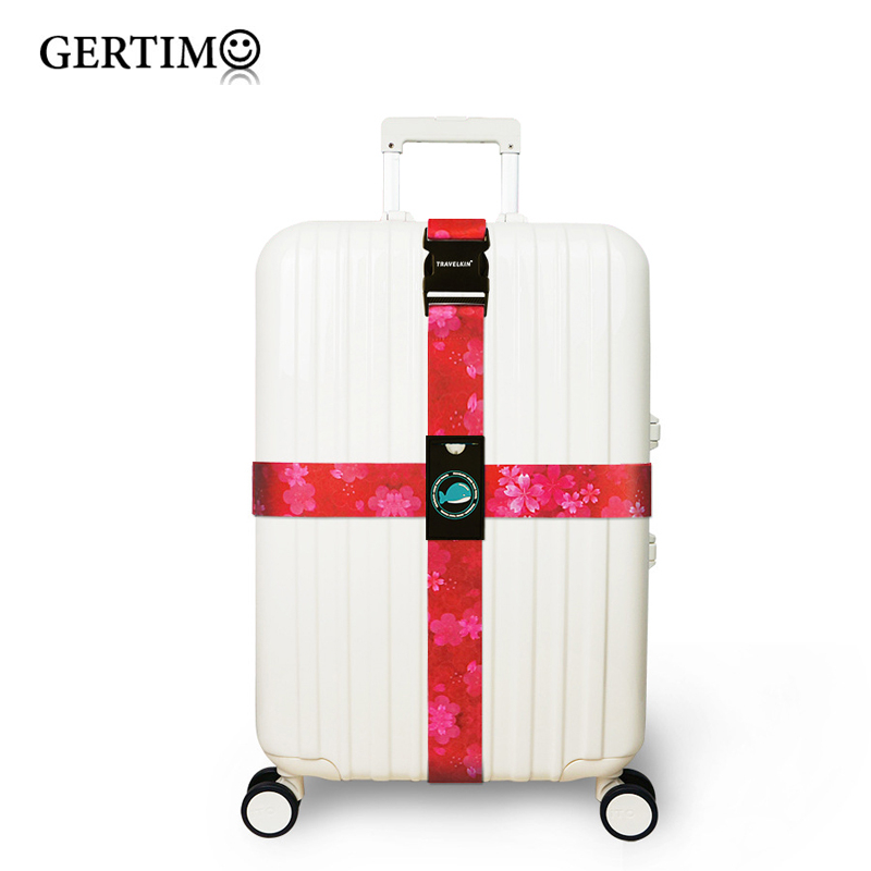 Color Polyester Luggage Straps Extra Long Cross Suitcase Belts Travel Tags Accessories,fit For 18\