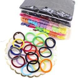 50 шт./компл. высокой упругой резинкой бесшовные черный-конфеты цветные Полотенца волос кольцо Полотенца кольцо Детская волос веревки