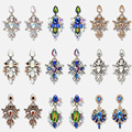 Оптовая продажа JUJIA, брендовые модные висячие серьги с большими цветами и кристаллами, женские длинные серьги-подвески для свадьбы