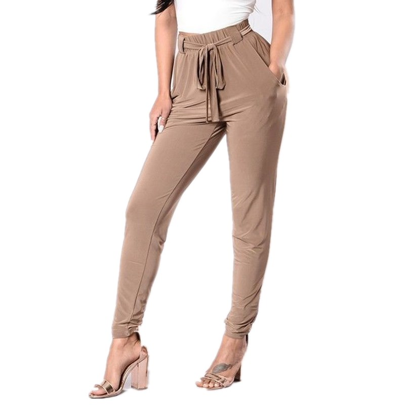 Pencil   Pant   Women Ladies Stretchy Skinny Jegging   Pants   Women High Waist Slim Fit Casual Trousers Sashes   Capris     Pants   Womens