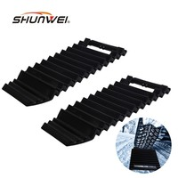 2x Multipurpose Car Anti Skid Chains Sand Pass Tire Pads Car Ice Scraper Snow Shovel Winter