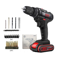 36VF Multifunctional Electric Screwdriver Impact Cordless Mini Drill Airless Engraving Drill Hammer Hand Power Tools 8 orders