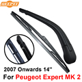 QEEPEI Rear Wiper Blade and Arm For Peugeot Expert MK 2 2007-2016 14'' 2 door van High Quality Iso9000 Natural Rubber RPG34-2A