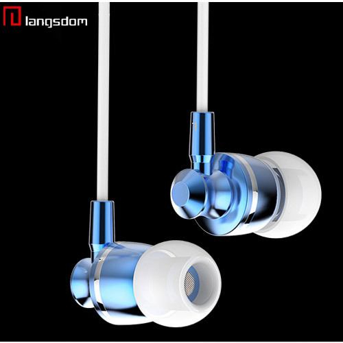 Brand Luxury Metal Aluminum Earphones Headphone High Quality Microphone MIC 3.5MM Jack Stereo Bass For ipad Mobile Phone MP3 MP4