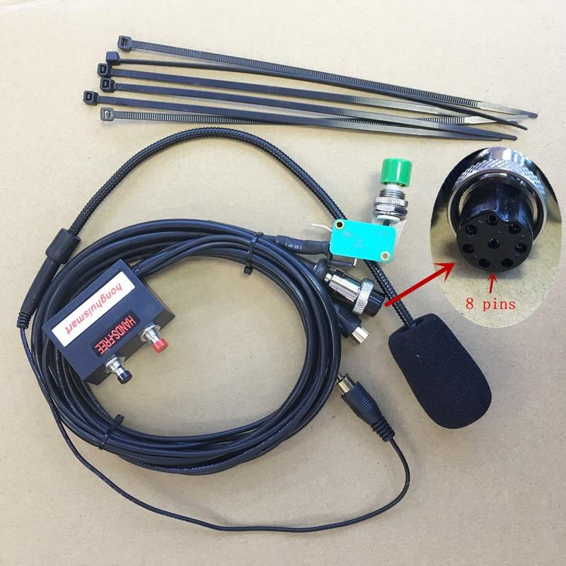 Honghuismart Aviation 8pin Handfree Micrphone For Kenwood TM241/TM231/TM441/TM421/TM221/TM431 Etc Car Mobile Radio For Taxi
