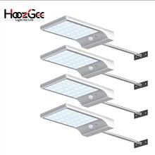 HoozGee Solar Power Street Light 36 LED Wall Lamp PIR Motion Sensor Lamps Outdoor Garden Patio Security Lighting with Stick