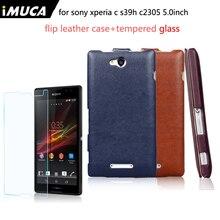 IMUCA для Sony Xperia C S39H C2305 c 2305 телефон Чехлы + Sony Xperia C S39H C2305 c 2305 Экран протектор Капа Coque Fundas
