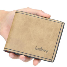 Men's short wallet multi-card position PU leather ultra-thin short wallet smooth multi-color tide business casual 2019 new