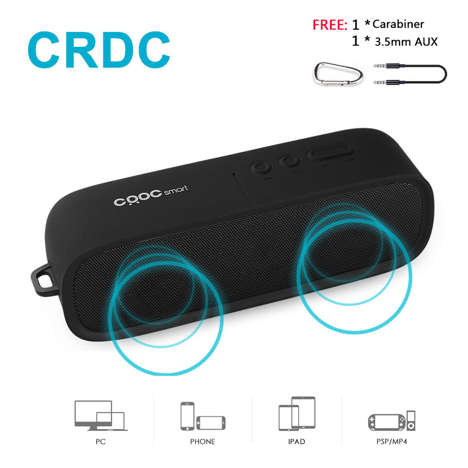 CRDC Bluetooth Speaker Wireless Stereo Loudspeaker Portable Column MP3 Speakers HandFree with HD Mic for iPhone Samsung Xiaomi