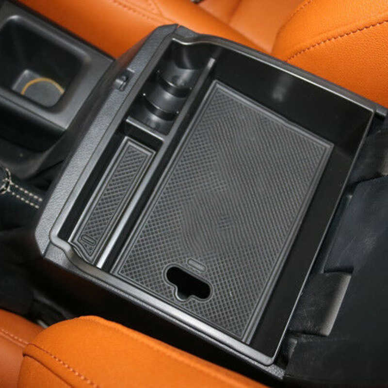 Car Armrest Center Console Central Handrails Box Storage For Toyota Hilux Revo 2015-2017 Armrest Container Stowing Box Mat