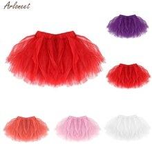 Детская Милая танцевальная юбка-пачка для маленьких девочек; детская плиссированная балетная юбка-пачка высокого качества; нарядная юбка-американка для малышей; детская Праздничная юбка