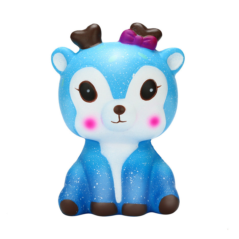 Cute Mini Kawaii Cartoon Galaxy Deer Squishy Slow Rising Cream Scented Stress Reliever Toy Squish Toys For Kid Child A1