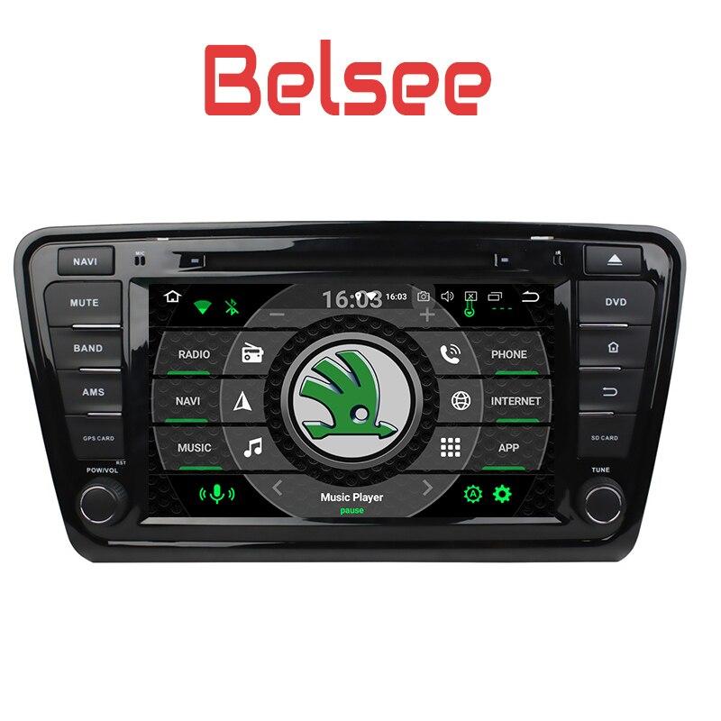Belsee per Skoda Octavia 2013 2014 2015 2016 Auto GPS Multimediale media Player 8 Core 4 + 32 GB Unità di Testa di Navigazione Dello Schermo Radio