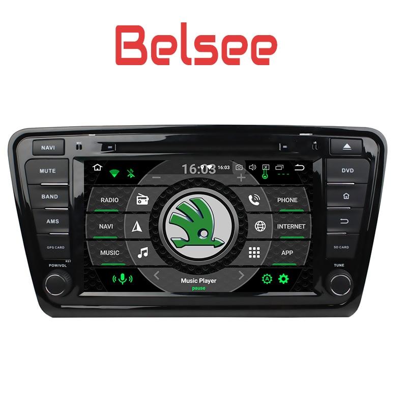Belsee pour Skoda Octavia 2013 2014 2015 2016 Voiture GPS multimédia Media Player Navigation 8 Core 4 + 32 GB Tête Unité Écran Radio