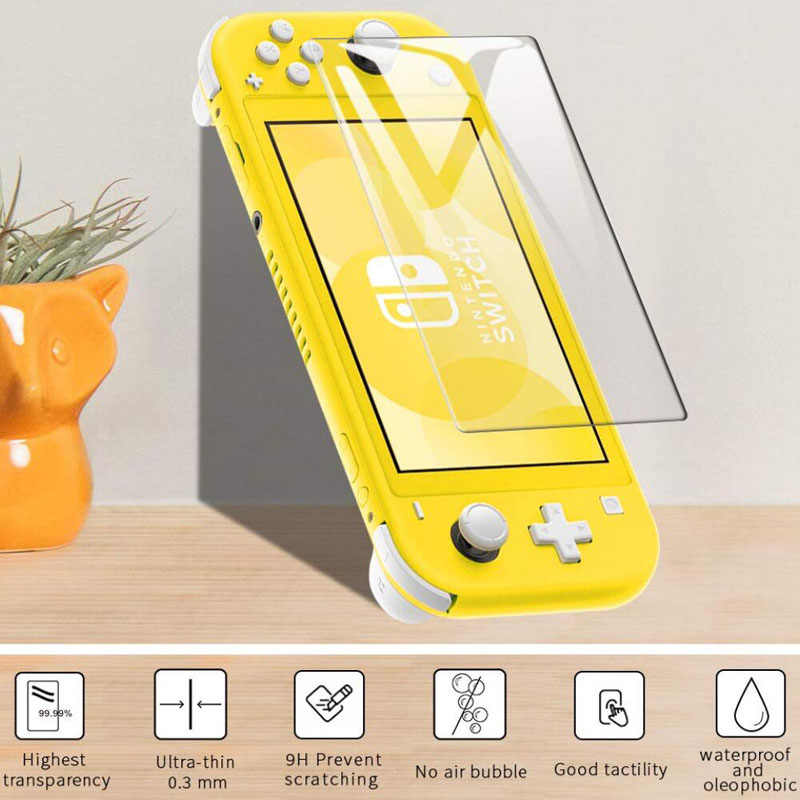 Tempered for Nintend Switch Lite NX Glass Ultra Clear Full HD Screen Protective Film Surface Guard Console Protector Cover Skin