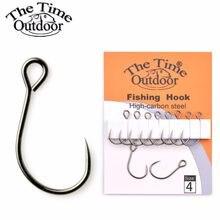 Thetime-anzuelos individuales de acero al carbono, equipo de pesca de carpa, anzuelos de buena calidad, 3 paquetes